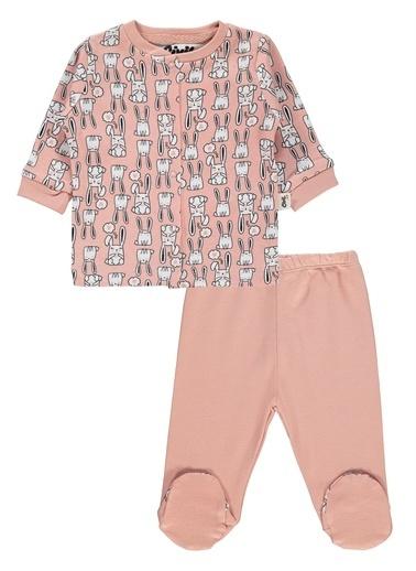 Civil Baby Civil Baby Kız Bebek Pijama Takımı 0-6 Ay Pudra Civil Baby Kız Bebek Pijama Takımı 0-6 Ay Pudra Pudra
